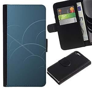 All Phone Most Case / Oferta Especial Cáscara Funda de cuero Monedero Cubierta de proteccion Caso / Wallet Case for Apple Iphone 5 / 5S // Blue Circles