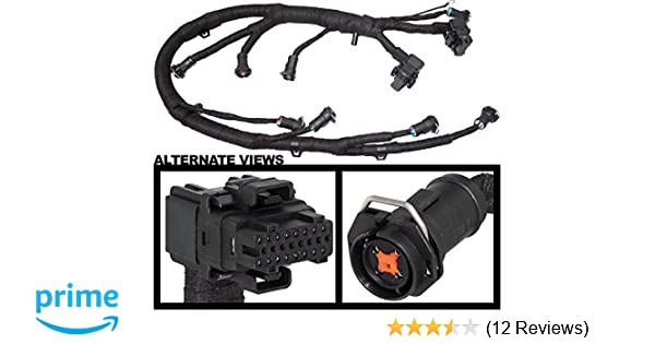 FICM Engine Fuel Injector Complete Wire Harness - Replaces Part 5C3Z9D930A  - Fits Ford Powerstroke 6 0L Diesel - 2003, 2004, 2005, 2006, 2007 F250