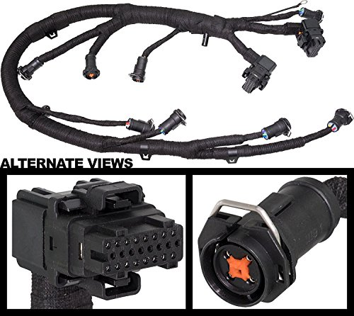 FICM Engine Fuel Injector Complete Wire Harness - Replaces Part 5C3Z9D930A - Fits Ford Powerstroke 6.0L Diesel - 2003, 2004, 2005, 2006, 2007 F250 F350 F450 F550 2004-2005 Ford Excursion
