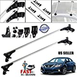 Car Roof Rack Crossbars 47inch Universal fit for Bare Roof Vehicles- Carry Your Canoe, Kayak, Cargo Safely - Mounts to The Rooftop of Your Car or SUV | Raised Side Rail Gap Gutters No Needed