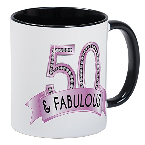 CafePress 50 & Fabulous Diamonds Mugs Unique Coffee Mug, Coffee Cup