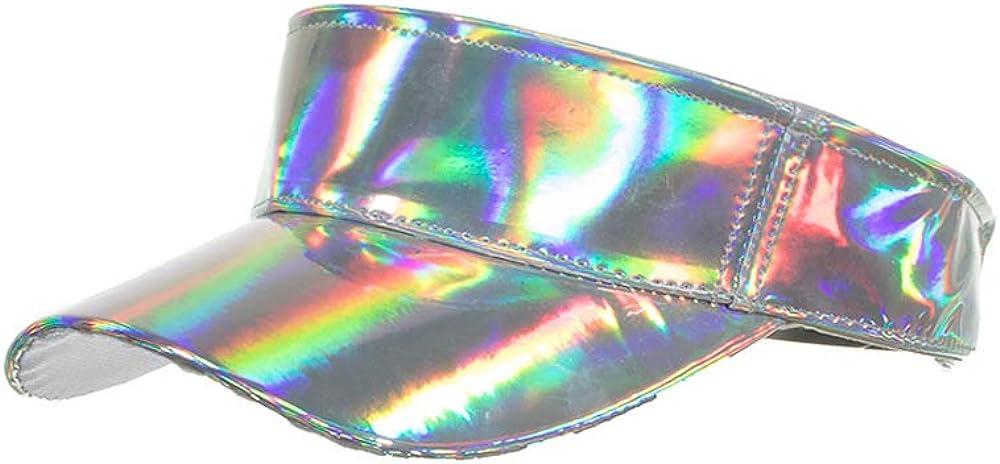 Bincout Meerore Shining Pu Plate Laser Cap Luminous Visor Hat