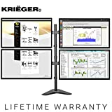 KRIËGER KL4327N • Quad Monitor Mount Full Motion Articulating Arm Monitor Stand • Universal Fit for Computer Screens • 13' - 32' Screens Vesa Mount