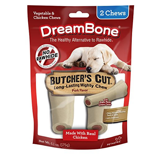Double Chew Bone - Dreambone Butcher'S Cut Dog Chew, Rawhide Free, Made With Real Chicken