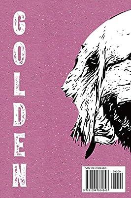 Stylish Lined Notebook For Golden Lovers Pedigree Dog Golden Retriever Notebook