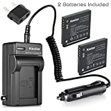 Kastar 2x Battery + Charger for Panasonic DMW-BCK7 & Lumix DMC-FH2 FH4 FH5 FH6 FH25 FH27 FP5 FH7 FS16 FS18 FS22 FS28 FS35 FS37 FS40 FS45 FT20 FT25 FX77 FX78 FX80 FX90 S1 S2 S3 S5 SZ1 SZ5 SZ7 TS20 SZ25