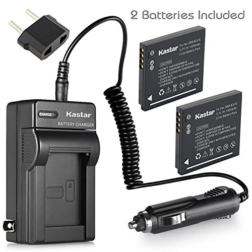 Kastar 2x Battery + Charger for Panasonic DMW-BCK7 & Lumix DMC-FH2 FH4 FH5 FH6 FH25 FH27 FP5 FH7 FS16 FS18 FS22 FS28 FS35 FS37 FS40 FS45 FT20 FT25 FX77 FX78 FX80 FX90 S1 S2 S3 S5 SZ1 SZ5 SZ7 TS20 SZ25 by Kastar