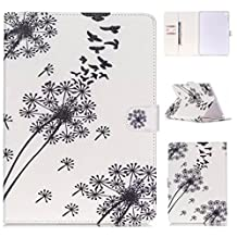 Apple iPad Air Folio Case,Gift_Source Brand [Dandelion] [Magnetic Closure] Slim Fit Leather Fashion Flip Stand Card Slot Wallet Case Cover for Apple iPad Air (iPad 5th Generation)