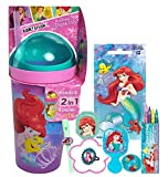little mermaid hair brush - Disney Princess Ariel Fun Sip Favor Cup! Valentines Gift, Easter Basket Filler, Stocking Stuffer or Party Favor! Pre-Filled & Ready For Giving! Includes Little Mermaid Tumbler, Stickers & Favors!
