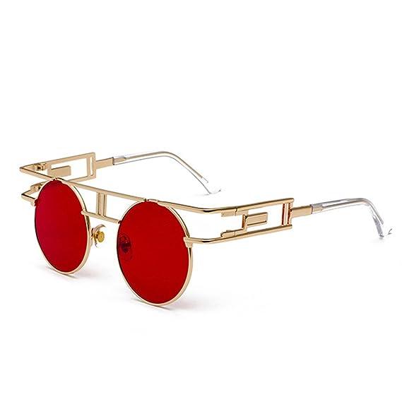 Huicai Circular Gafas de sol retro Hombre mujer Marco de ...