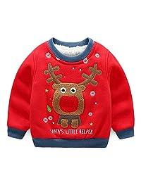 LittleSpring Little Boys Cartoon Christmas Wool Sweater