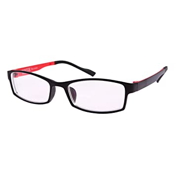 908b10e11ba Amazon.com  1 PR Red Frame Near-sighted Myopia Glasses -1.00 ...