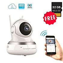 Baby Monitor Security Camera Wireless 1080P [FREE MEMORY CARD and CLOUD STORAGE], WiFi System, Mount, Stand, Wireless Remote Night Vision, Two-Way Talk and Live Stream to Phone in HD, Office and Home Surveillance by CovertCams