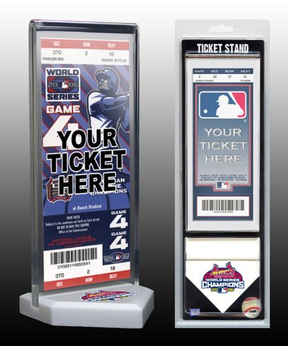 MLB St. Louis Cardinals 2006 World Series Champions Ticket Display Stand, One Size, (St Louis Cardinals World Series Champions)