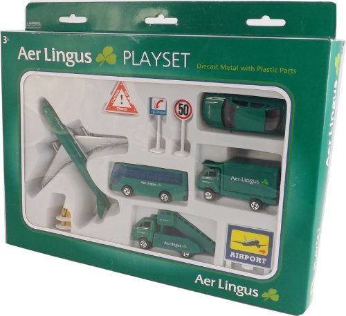 Real Toys Al75630 Aer Lingus 12Piece Airport Playset By Irish Decal