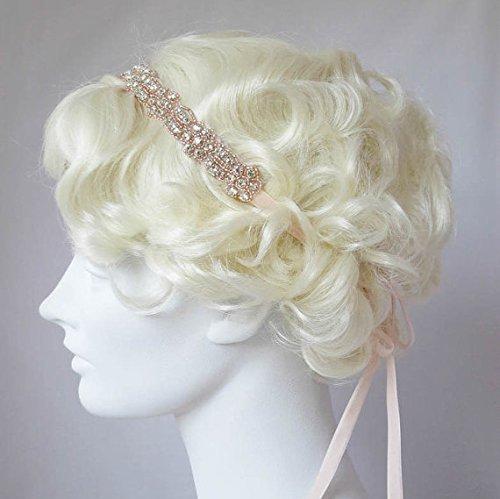 Amazon.com  Rhinestone Headband Rose Gold And Crystal Headband  Handmade e1e702b0a91
