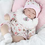 CHAREX Reborn Baby Doll, 16 inches Handmade Sleeping Newborn Soft Silicone Vinyl Dolls, 9-Piece Gift...