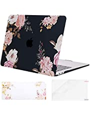 MOSISO MacBook Air 13 inch Case 2019 2018 Release A1932 with Retina Display, Plastic Pattern Hard Shell & Keyboard Cover & Screen Protector Only Compatible with MacBook Air 13, Peony Blossom