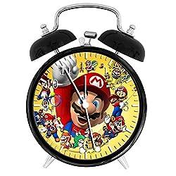 Super Mario Alarm Desk Clock 3.75 Home or Office Decor W42 Nice For Gift