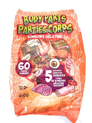 Halloween Skeleton Body Parts (Halloween Assorted Gruesome Gummy Body Parts Candy, 15.87 oz)