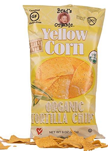 Brad's Organic Tortilla Chips, Yellow, 9 ()