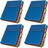 Cardinal Expanding Pocket Poly Divider, 5-Tab, Multi-Color (84012CB), 4 Packs