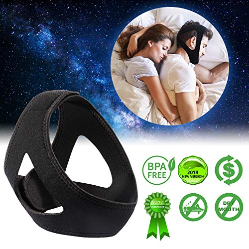 Anti Snore Chin Strap for Men and Women, Adjustable Snore Stopper Strap Most Effective Snoring Solution for Snorers, Best Anti Snoring Devices in 2019