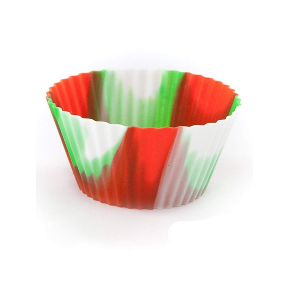 HYRL Silicone Baking Cups Muffin Cups Mini Cupcake Liners Reusable and Non-Stick Mini Truffle Cups36 Pack- Vibrant Colors Round by HYRL