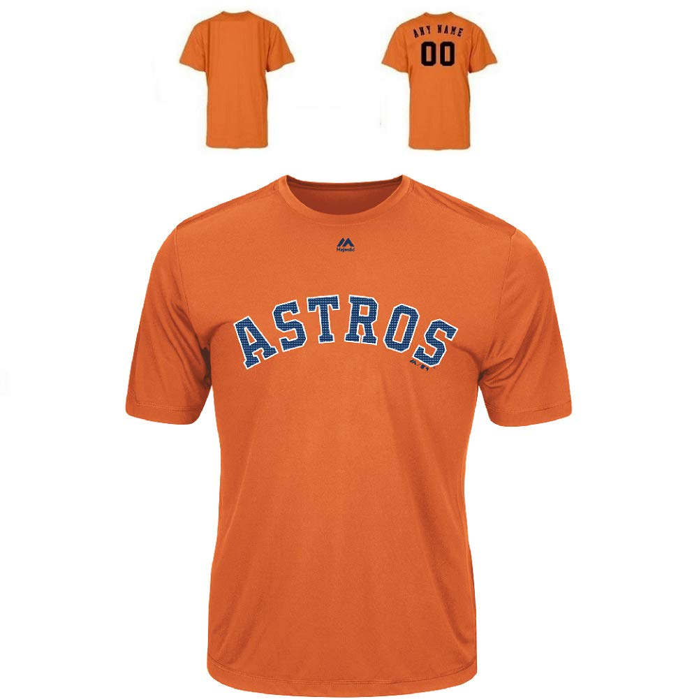uk availability e0daa 01e21 Houston Astros Wicking MLB Officially Licensed Youth & Adult Authentic  Replica Crewneck T-Shirt