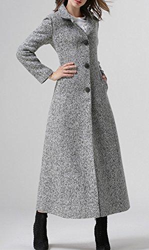 Resistente Lana Plaer And Largo Abrigo Winter Viento Mujer De Al Autumn Cálido Para ax0Sq1Tw