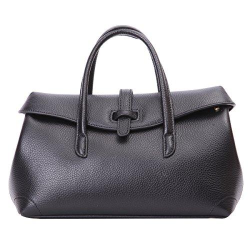 Leathario Lichee Pattern Genuine Leather Handbag Shoulder Bag Satchel Crossbody Tote Bag