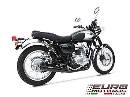 Kawasaki W800 Zard Exhaust Full System Ceramic Black Coat With Conical Mufflers