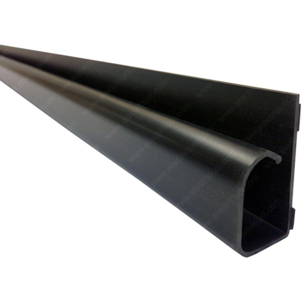 Large Hook Channel Cable Raceway - 1 Piece - 59'' - Black