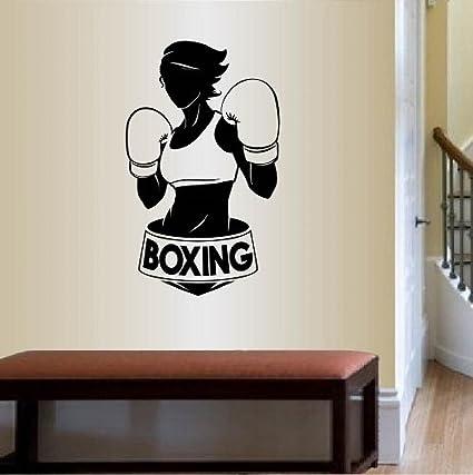 Amazon.com: wall vinyl decal home decor art sticker boxing word sign