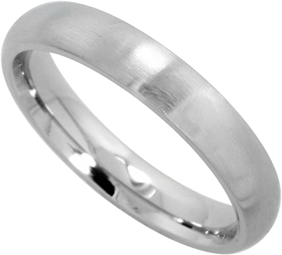 Stainless Steel Matte Finished Greek Key Flat Band Ring