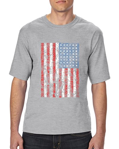 Blue Tees USA Flag Vintage Proud Country American Ultra Cotton Unisex T-Shirt Tall Sizes 3X-Large Tall Charcoal