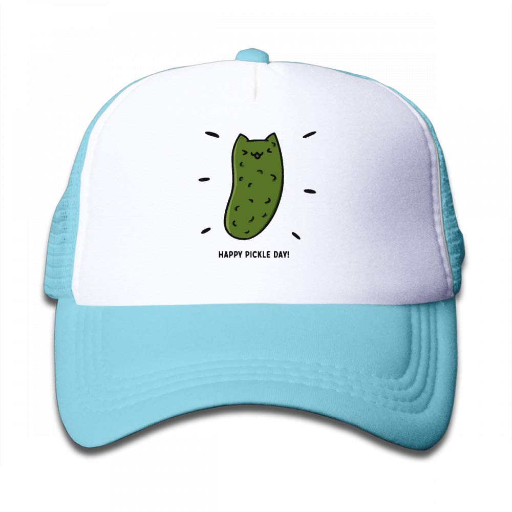 NO4LRM Kid's Boys Girls Kawaii Happy Pickle Day Youth Mesh Baseball Cap Summer Adjustable Trucker Hat by NO4LRM (Image #1)