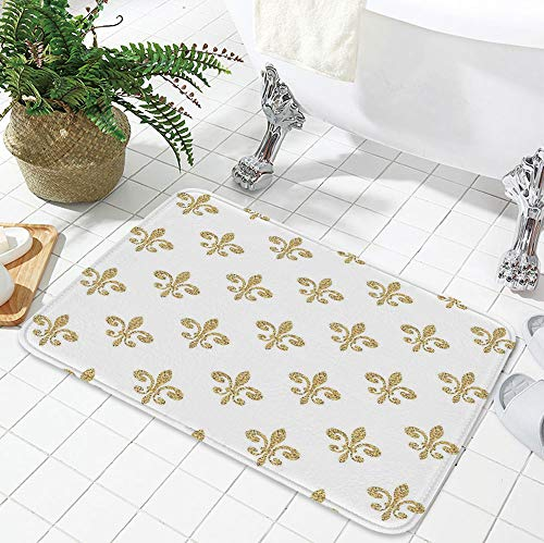 - YOLIYANA Water Absorption Non-Slip Mat,Fleur De Lis Decor,for Corridor Study Room Bathroom,19.69