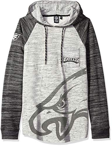 - ICER Brands Men's Standard Fleece Hoodie Pullover Sweatshirt Space Dye, Gray, Large