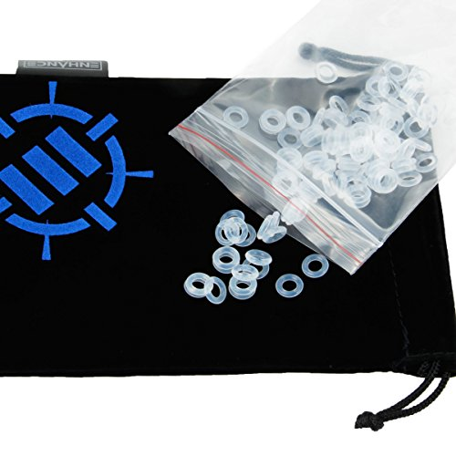 ENHANCE Mechanical Keyboard O Ring Ultra-Quiet Switch Sound Dampeners Kit Soft 40A Clear (140pcs), K - http://coolthings.us