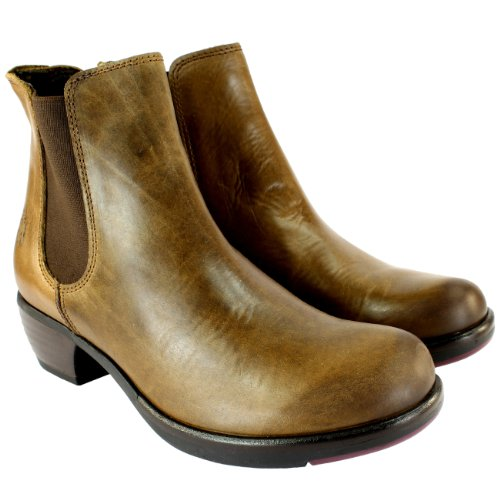 Fly London Make Leather basse talon Chelsea Boots Tan gAoxL