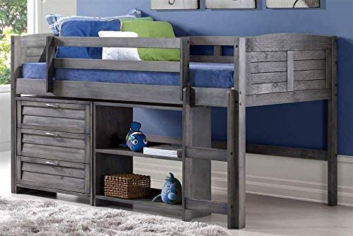 Donco Kids Louver Modular Low Loft Bed Combo C