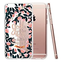 iPhone 6 Plus/6s Plus 5.5 Case,God Is Within Her Bible Verse Christian Quote Clear Soft TPU Shock-Proof Protective Case