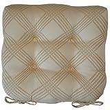 Sweet Pea Linens Tan Lattice Jacquard Tie-Back Chair Cushion Pads (SET OF TWO)