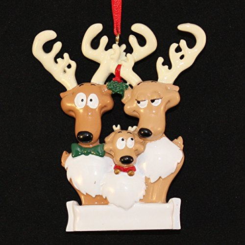 Reindeer Family/3 Personalized Ornament
