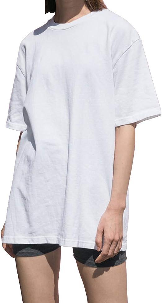 Image ofLargas Camisetas Mujer Manga Corta Algodón Marca Moda Basicas Túnica Camisas Ropa Tops Tallas Grandes