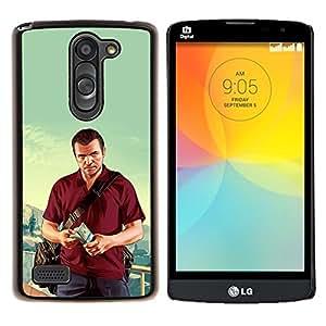 "Be-Star Único Patrón Plástico Duro Fundas Cover Cubre Hard Case Cover Para LG L Prime / L Prime Dual Chip D337 ( G T A - Michael Poster"" )"