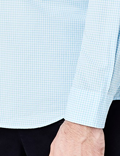 Blu light A Camicia Uomo Maniche Lunghe Cotone Meraki In Slim Blue Fit zw6vA6