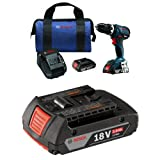 """Bosch HDS183-02 18V EC Brushless Compact Tough 1/2"""" Hammer Drill/Driver Kit with 2.0 AH battery"""