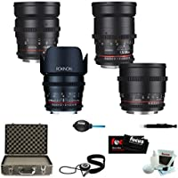 ROKINON CINE DS Super-Fast T1.5 Cinema Lens Kit - 50mm + 35mm + 85mm + 24mm f...